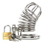 Jailed Metal Chastity Cage